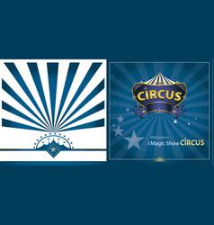 circus blue greeting card vector image