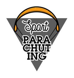 Color vintage parachuting emblem vector