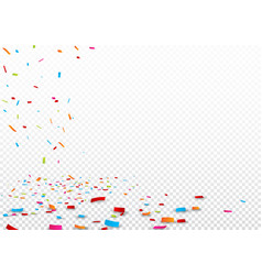 colorful ribbon and confetti isolated vector image