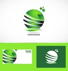 Corporate business green sphere logo vector