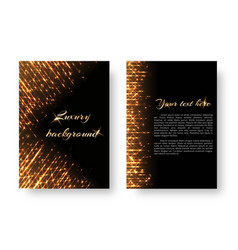 Cover with bright rays vector