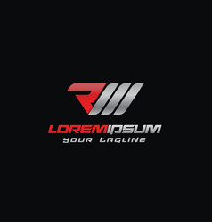 Creative letter rm logo concept design vector