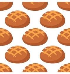 Cripsy wheat bread seamless pattern vector