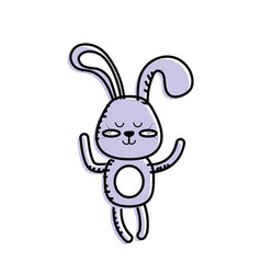 Cute rabbit boy wild animal character vector