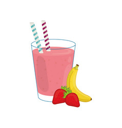 delicious and sweet smoothie vector image