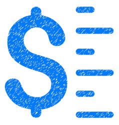 Dollar value grunge icon vector