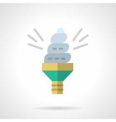 Eco idea flat color design icon vector image vector image