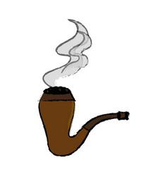 elf pipe wooden icon vector image