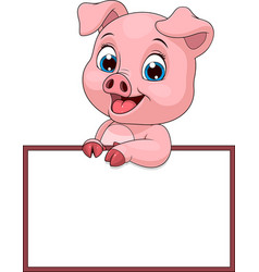 funny funny pig vector image