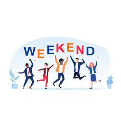 Group friends celebrating weekend vector