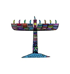 Hanukkah Jewish religious holiday Chanukah vector