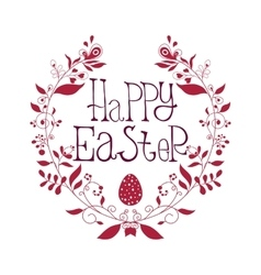 Happy Easter festive poster with decorative vector image