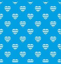 heart lgbt pattern seamless blue vector image
