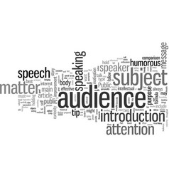 How to get best results with your speeches vector