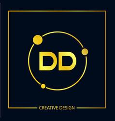 initial letter dd logo template design vector image