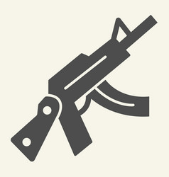 kalashnikov assault rifle solid icon automatic vector image