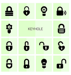 keyhole icons vector image