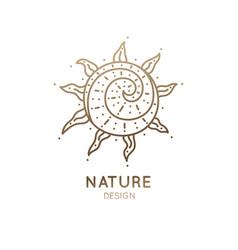 Logo abstract sun vector