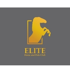 logo design element Horse steed vector image