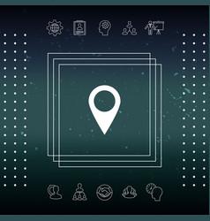 Map pointer icon vector