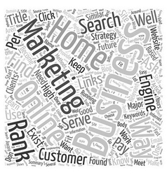 Marketing Your Online Home Business Word Cloud vector