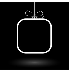 Minimalistic frame gift background vector