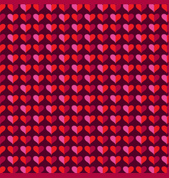 mod heart background valentines day pattern vector image