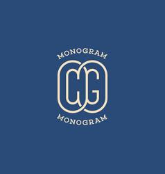 monogram cg vector image