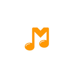 music letter m logo icon design vector image