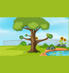 Nature scene landscape template vector