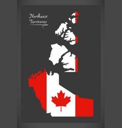 northwest territories canada map vector image