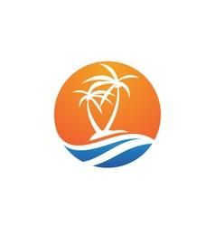 Palm logo template vector
