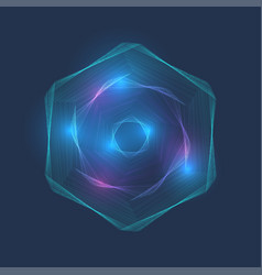 particle hex vortex point dotted lines vector image