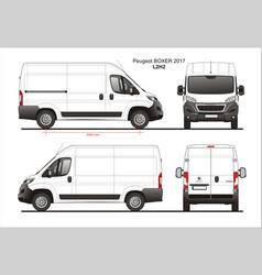 Peugeot boxer cargo delivery van 2017 l2h2 vector
