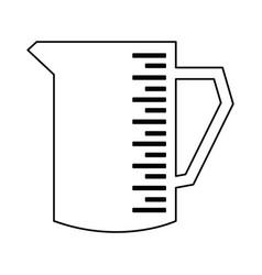 Pitcher kitchenware cooking utensil handle empty vector