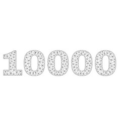 Polygonal wire frame 10000 text tag vector