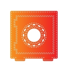 Safe sign Orange applique isolated vector image