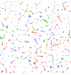 Seamless background with party streamers and vector