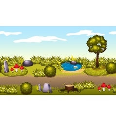 Seamless game environment Summer landscape vector
