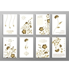 set flower wedding ornament concept art vector image