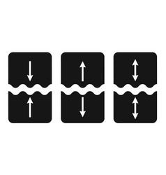set icons cut join symbol vector image