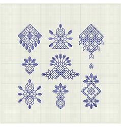 Set of Vintage Graphic Elements for Design vector image