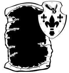 Shield and parchment vector image