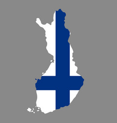 silhouette country borders map of finland on vector image