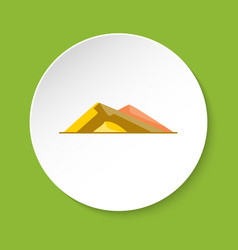 sloping hills icon in flat style vector image