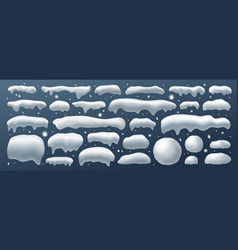 snow cap in winter on blue background vector image