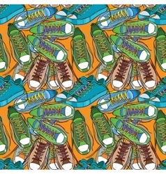 Sport shoes seamless pattern vector