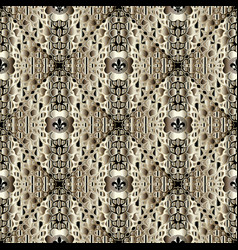Spotted abstract greek seamless pattern vector