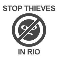 Stop thieves poster vector image