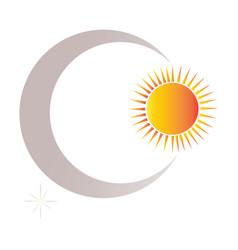 sun and moon shapes vector image